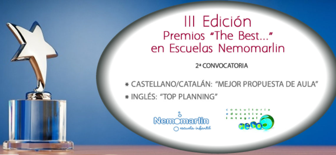 """Premios """"The Best…"""" al Proyecto Educativo Nemomarlin"""