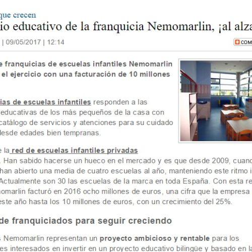 El negocio educativo de la franquicia Nemomarlin, ¡al alza!