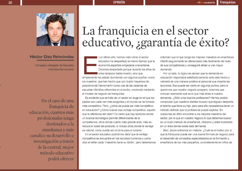 Noticia El Economista Nemomarlin Escuelas Infantiles