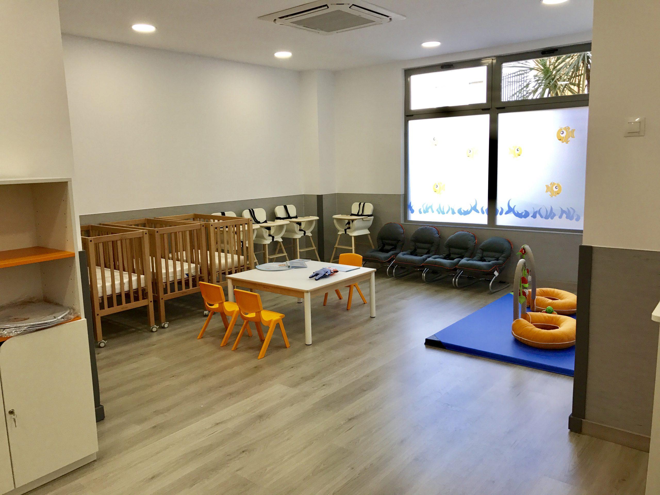 Aula bebes Guarderia Nemomarlin Alcobendas