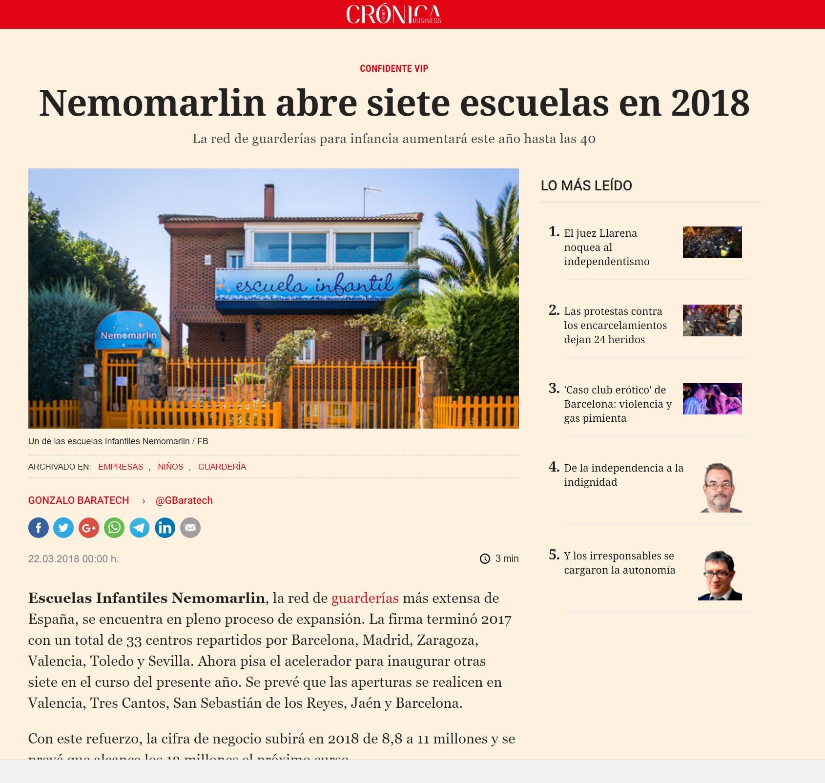 Entrevista Franquicia Escuelas Infantiles en El Español