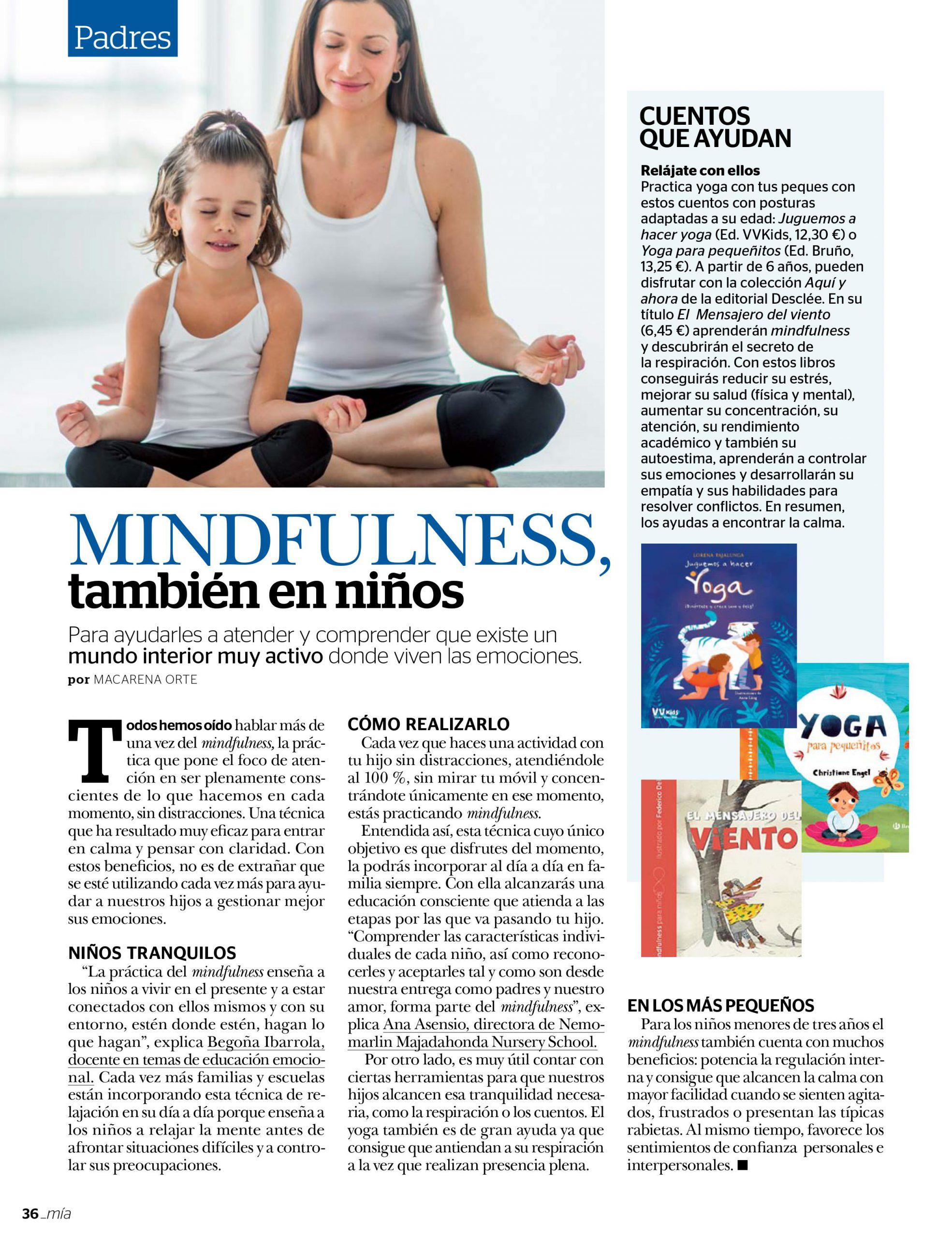 Noticia Mindfulness también en niños- Nemomarlin Escuelas Infantiles