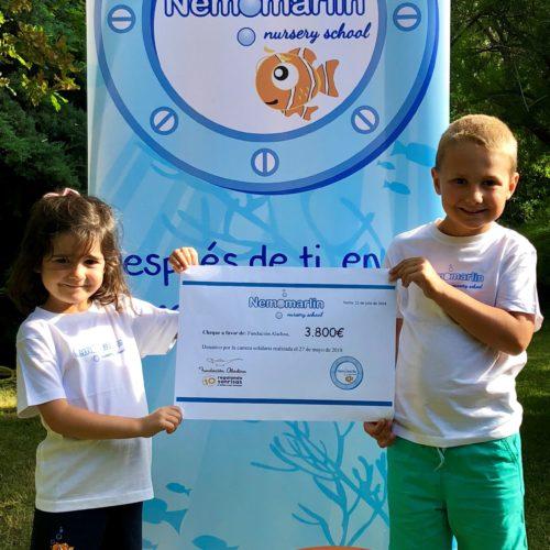 Agradecimiento colaboración papás escuelas infantiles Nemomarlin con fundación Aladina