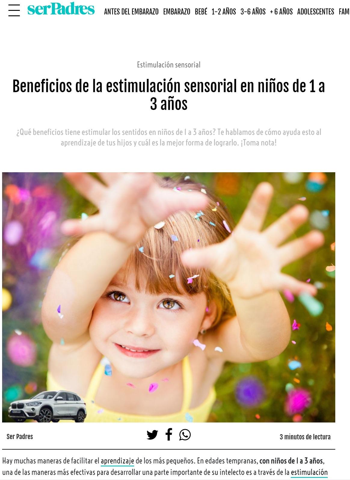 Benificios estimulación sensorial en Ser Padres - Nemomarlin Escuelas Infantiles