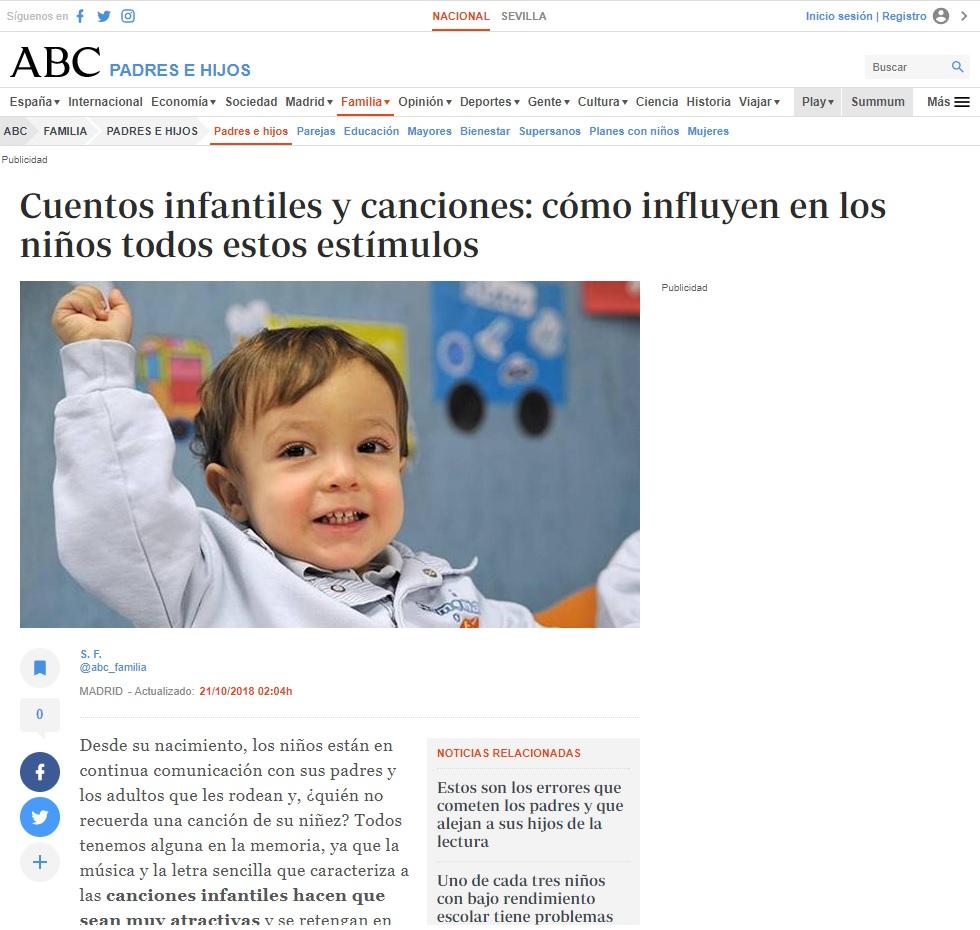 Noticia Nemomarlin Escuelas Infantiles, cuentos infantiles y canciones
