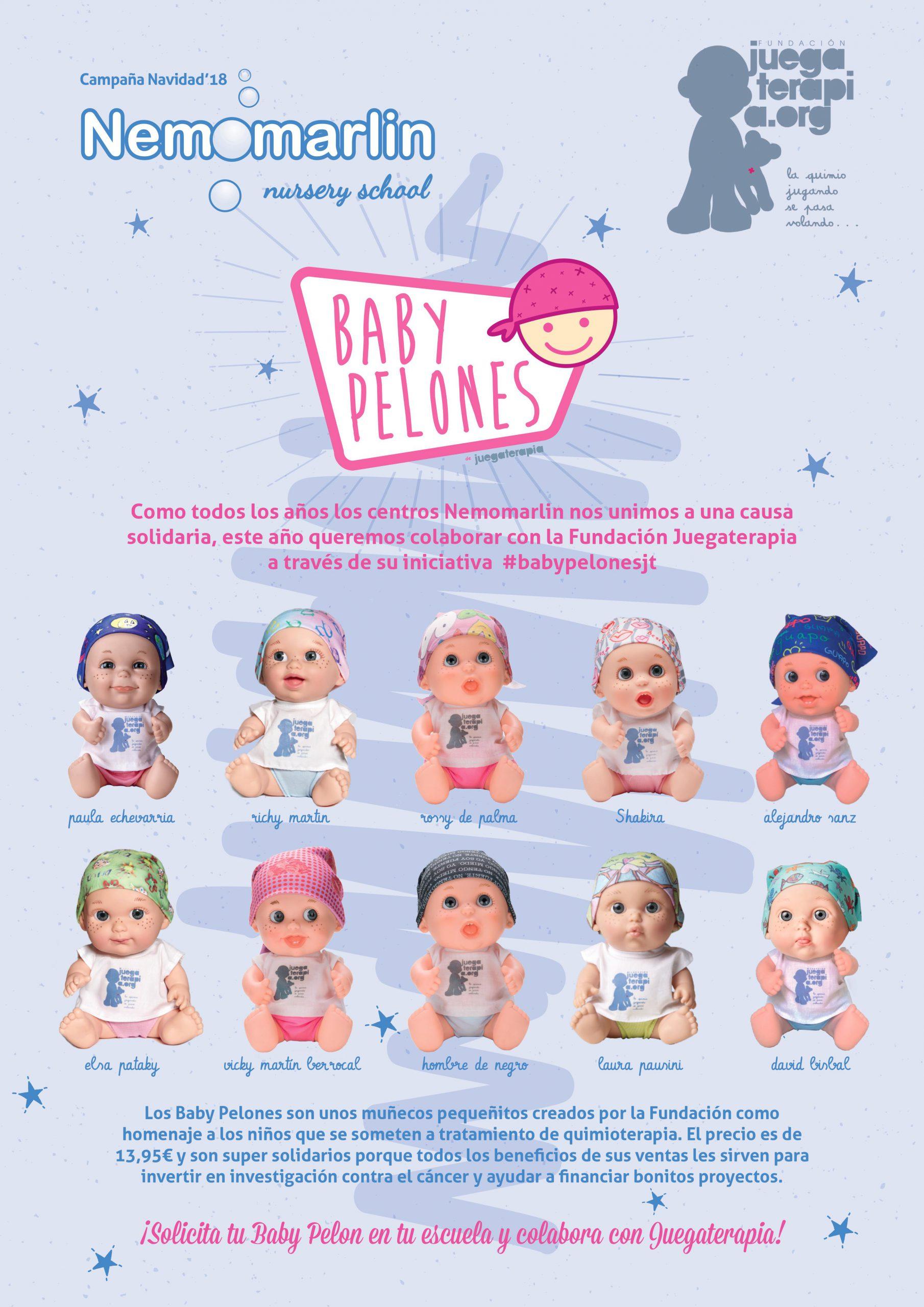 Nemomarlin colabora fundación Juegaterapia con los Baby Pelones