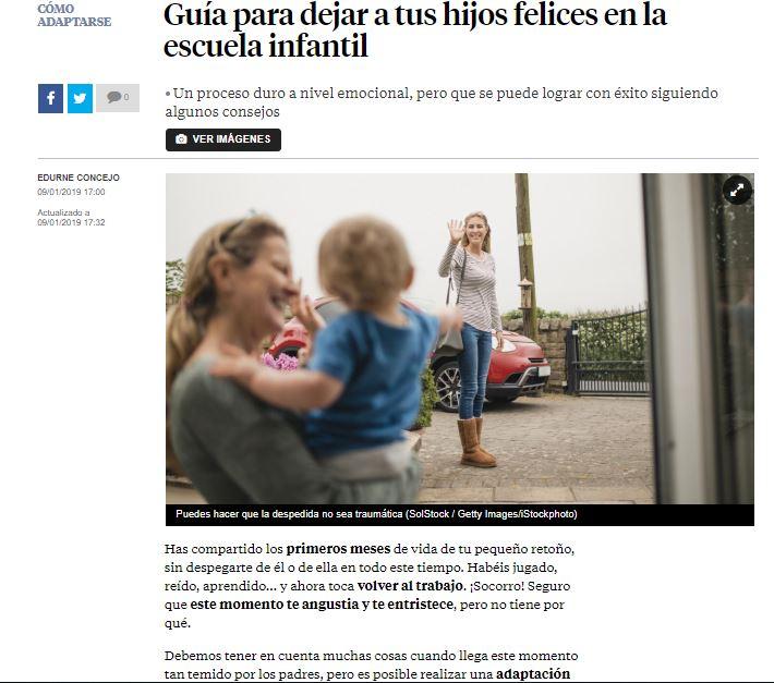 La Vanguardia - guía para dejar a tus hijos felices en la escuela infantil