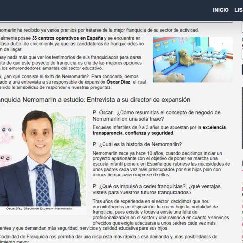 Franquicia Nemomarlin: Entrevista a su director de expansión.