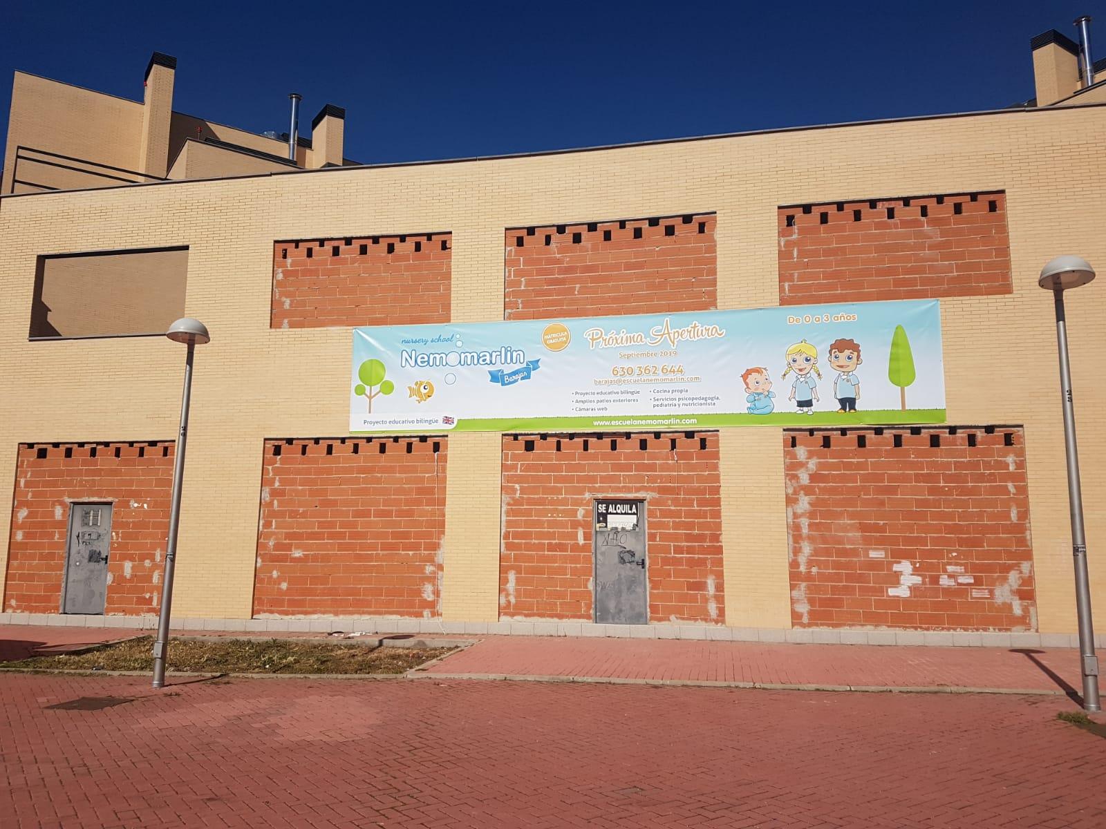Fachada apertura Escuela Infantil Nemomarlin Barajas
