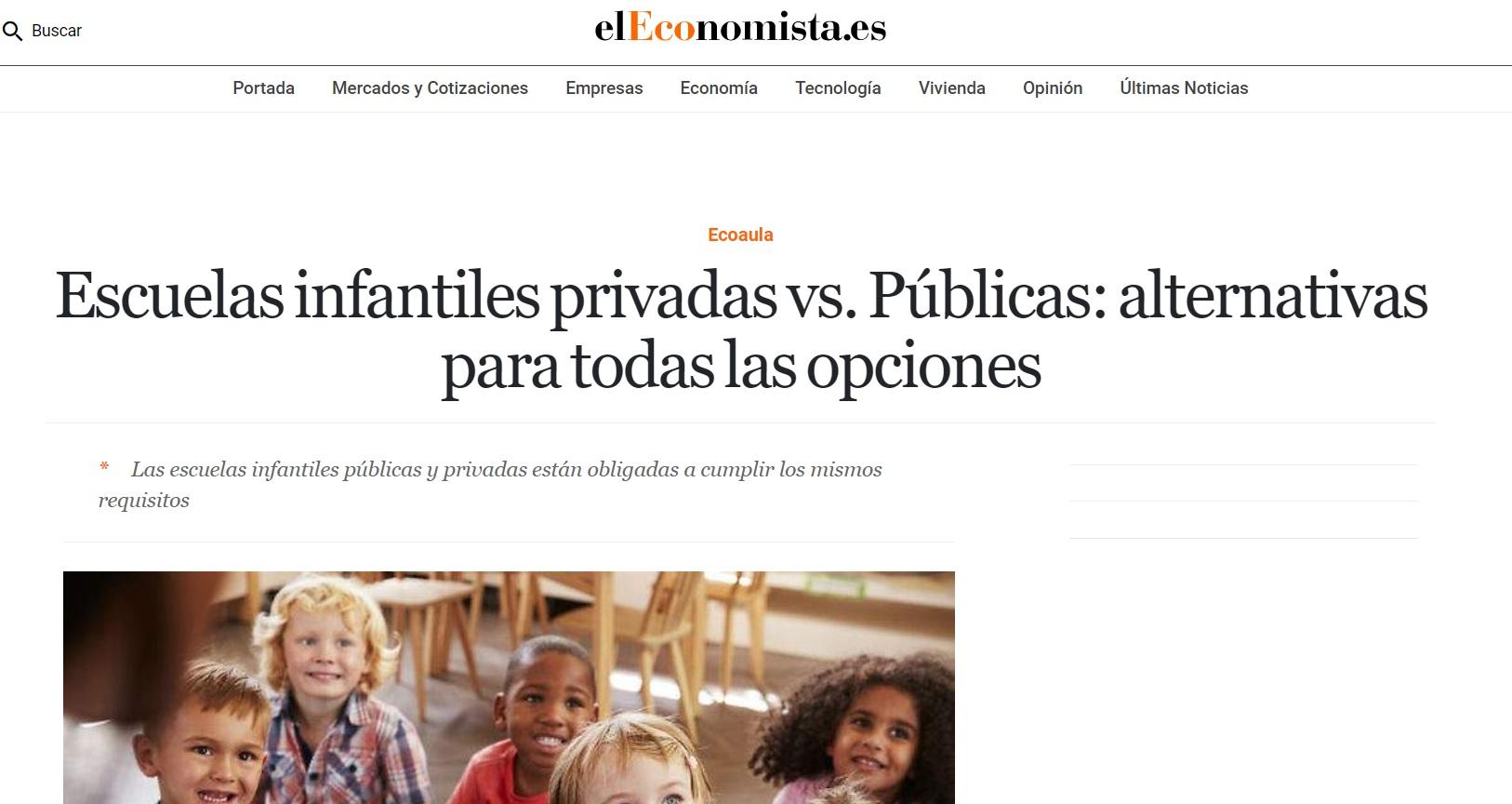 artículo Nemomarlin escuelas infantiles sobre las diferencias entre escuelas privadas y públicas