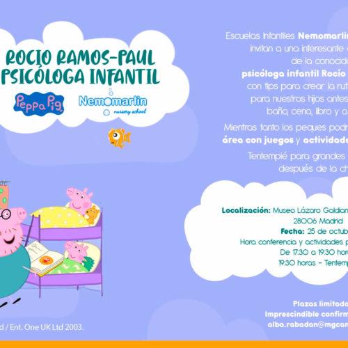 Conferencia Rocío Ramos en colaboración con Nemomarlin y Peppa Pig