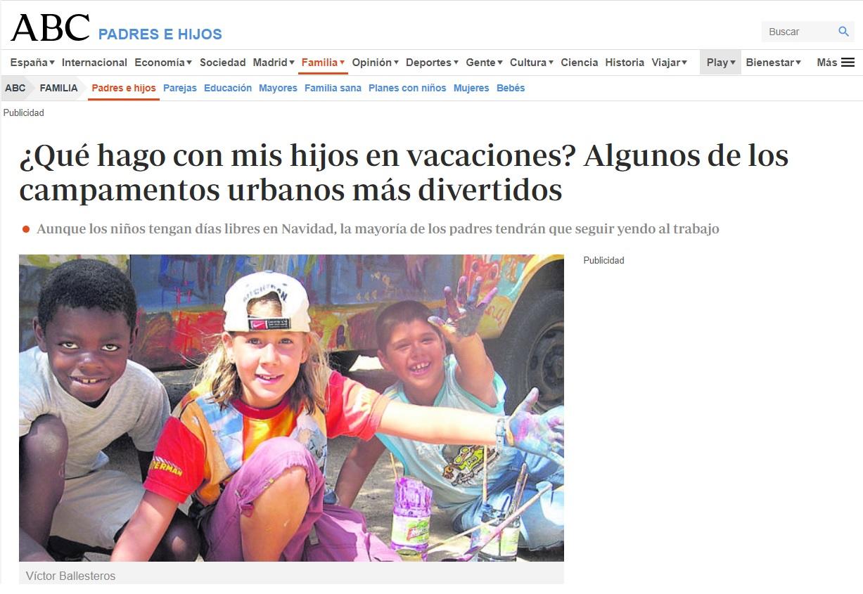 artículo prensa guarderias Nemomarlin, que hago con mis hijos en vacaciones