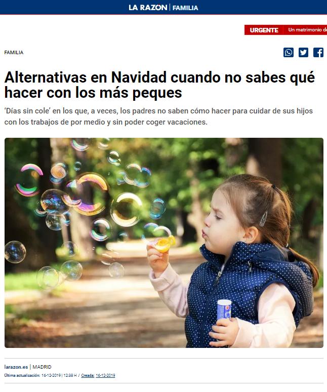 articulo prensa la razon alternativas navidad_ escuelas infantiles Nemomarlin