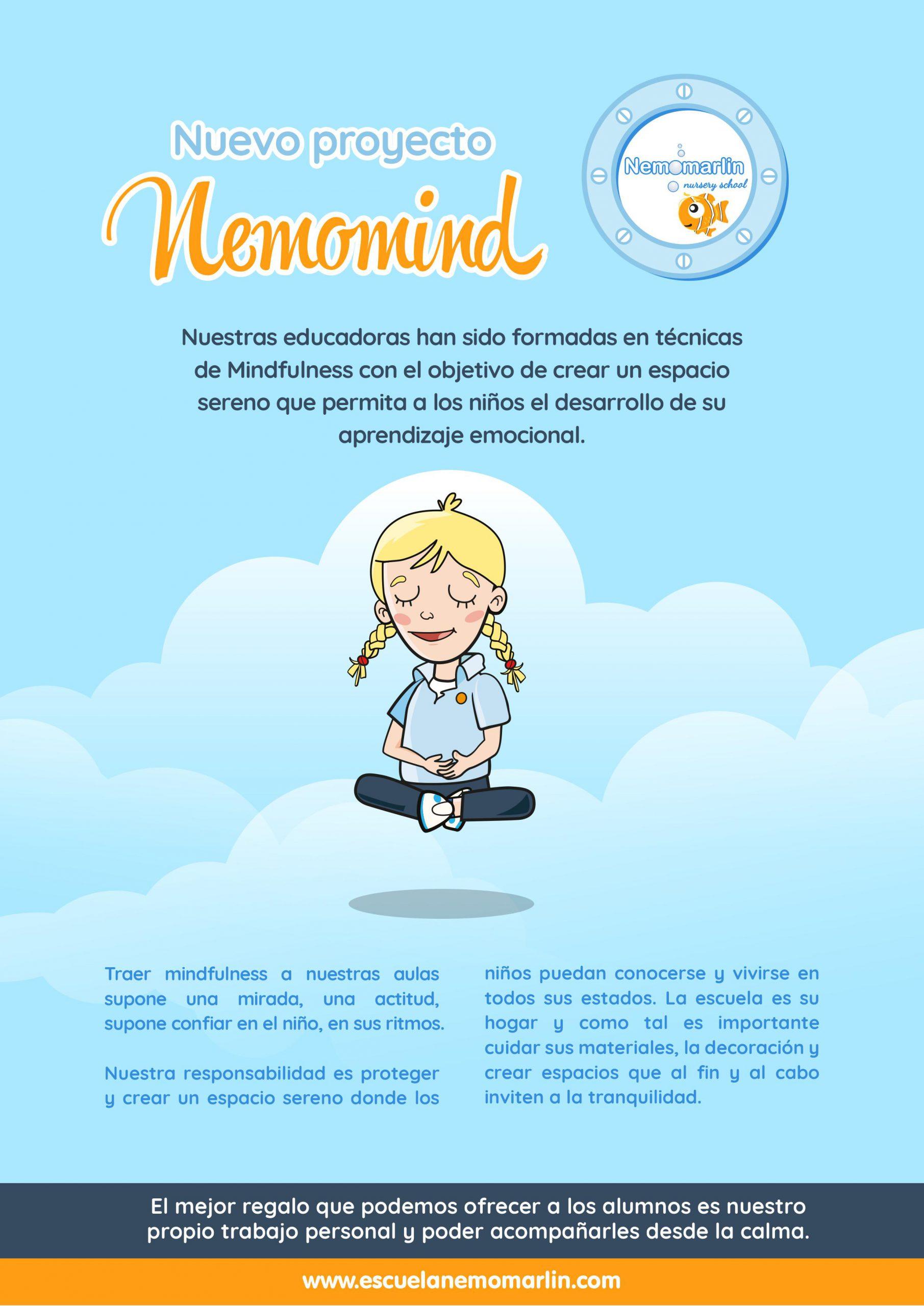 nuevo proyecto de mindfulness en las escuelas infantiles Nemomarlin