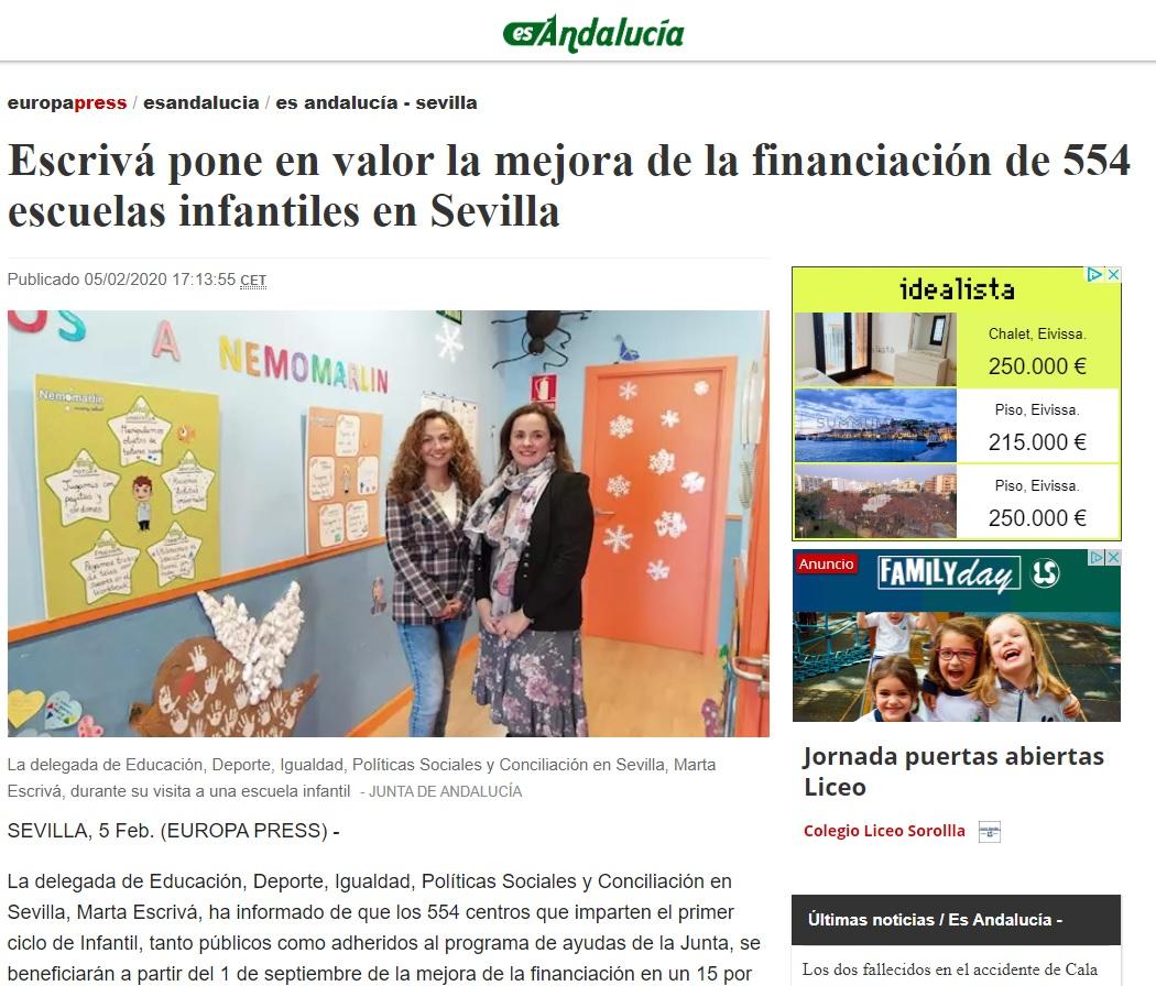 Foto aparición prensa escuela infantil nemomarlin Torneo