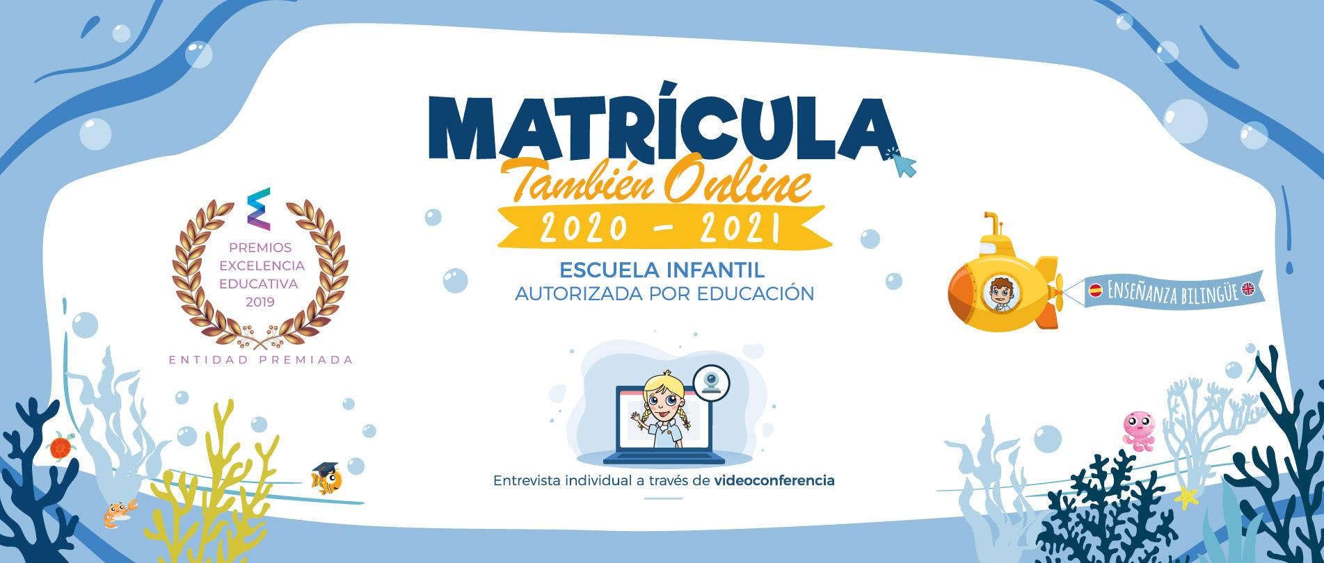 Matrícula online 2020-2021 Escuelas Infantiles Nemomarlin