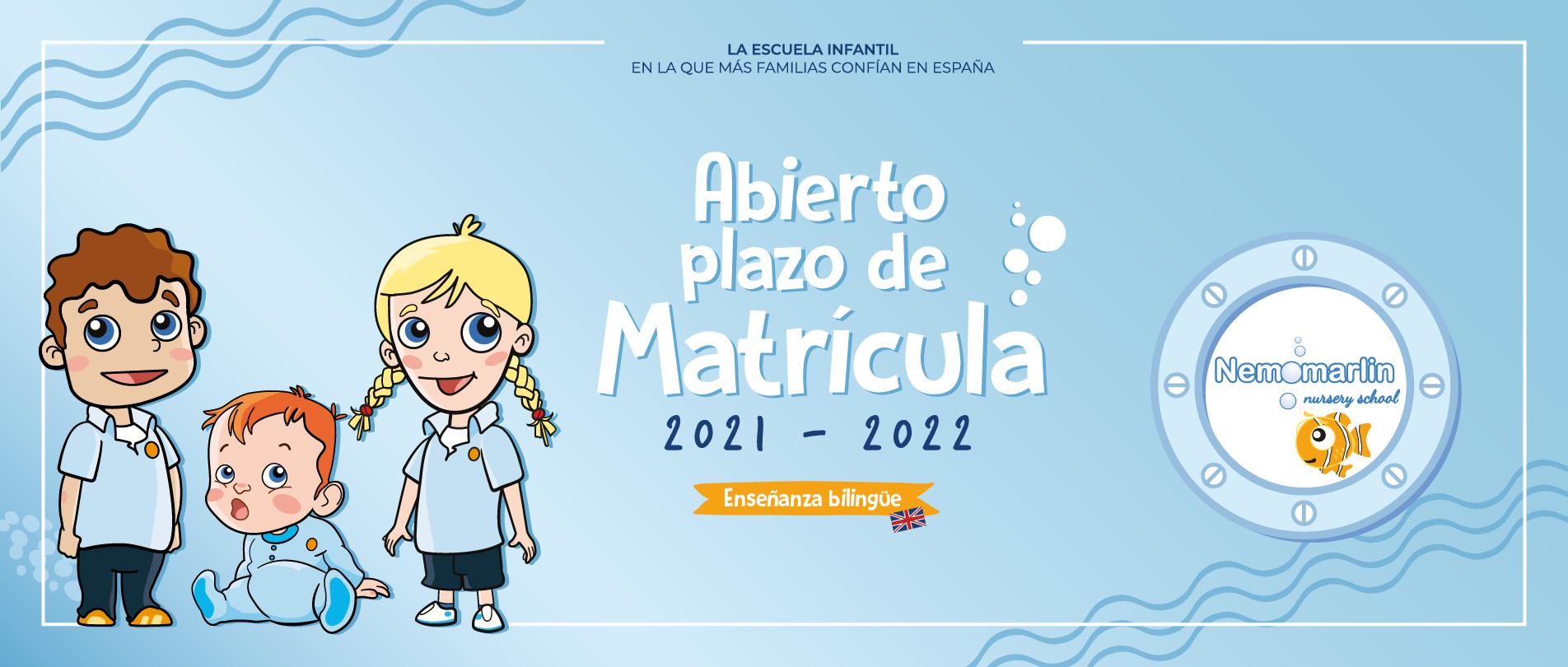 Abierto Plazo Matriculación Escuelas Infantiles Nemomarlin 2021